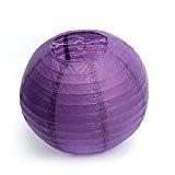 """Dazone®12""""(30cm)Lampion Chinois Abat-jour en Papier Lanterne Boule pour Décoration de Mariage Maison Noël Fête etc.(Lot de 10pcs) (Violet Foncé)"""