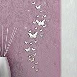 DDLBiz® Décoration de Maison 3D Miroir Stickers Muraux Décoration Combinaison 30PCS Papillon Bricolage