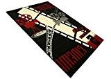 DeBonsol - Tapis salon CINEMA noir rouge UNIVERSOL