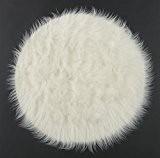 DeBonsol - Tapis shaggy FLOKY rond blanc UNIVERSOL