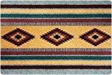 DECO-MAT | TAPIS AMÉRINDIEN / GRIS-ROUGE | paillasson antidérapant | tapis d'entrée 40 x 60 cm sans bordure | haute ...