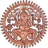 Déco murale Ganesh en bois de suar