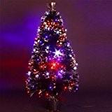 DECO NOEL - Sapin de Noël artificiel lumineux en fibre optique + 170 LED - livré dans son pot - ...