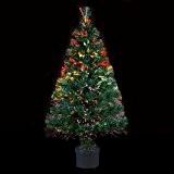 DECO NOEL - Sapin de Noël artificiel lumineux en fibre optique livré dans son pot - Lumière à variation de ...