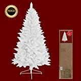 décoratif blanc 210 cm artificiel sapin de noel arbre de noel