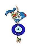 Décoration murale Décoration murale Décoration en céramique–bleu poisson Fish Nazar boncuk Yeux porte-bonheur