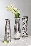 Décoration vase 'diverso', 3 pièces, 33 cm (argent)