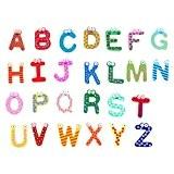 DEHANG – 26 pcs A-Z Lettre Alphabet Aimants de Réfrigérateur Bois de dessin animé Magnétiques Colorés pour enfants