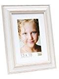 Deknudt Frames S221H1 Basic Cadre Photo Bois Blanc/Beige 20 x 30