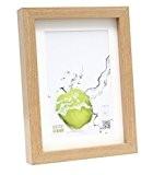 Deknudt Frames S40AH1 P1 Cadre Photo Basic avec Passe Partout Chêne Moulure Haute en Bois/MDF Naturel 24 x 30 cm