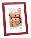 Deknudt Frames S41JL4 Cadre Photo Bois Fin Rouge 40 x 50 cm