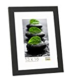 Deknudt Frames S44CF2 Basic Cadre Photo Bois/MDF Noir Fin 40 x 50 cm