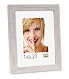 Deknudt Frames S45RH1 Cadre Photo Moulure Bloc Bois Blanc 30 x 45 cm