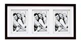 Deknudt Frames S65KQ3 Cadre Photo Double Passe-Partout pour 3 Photos Bois Brun 13 x 18 cm