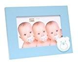 Deknudt Frames S66RK6 Cadre Photo Bébé avec Motif Ourson Bois Bleu Pastel 10 x 15 cm
