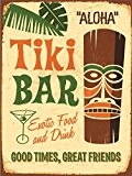 Delester Design PT074T2 Cadre Photo Tiki Bar Beige 40, x 30 x 1 cm
