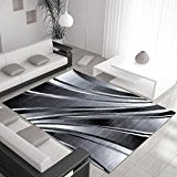 Design moderne tapis PARME 120 X 170 Noir
