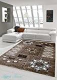 Designer Tapis à motifs lurex classique Brown Taupe Beige crème (Traumteppich) Größe 160x220 cm