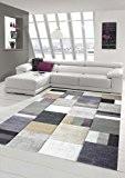 Designer Tapis contemporain tapis de salon tapis à poil ras avec motif diamant taillé de contour avec des couleurs pastel ...
