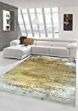 Designer Tapis contemporain Tapis en laine Heather tapis du salon tapis Ornement Moutarde Jaune Gris Größe 120x170 cm
