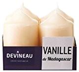 Devineau 1606917 Bougie Petit Modèle Vanille de Madagascar Beige Lot de 4