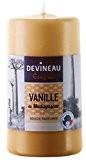 Devineau 1608717 Bougie Grand Modèle 70H130 Vanille de Madagascar Beige
