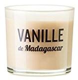 Devineau 1612817 Bougie Verre Coloré et Sérigraphie Vanille de Madagascar Rouge