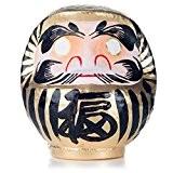 Dieu d'Or Chanceux Poupée Daruma Japonaise