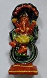 Dieu en Bois Peint hindou Danse Ganesh Statue 8cm