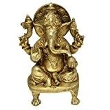 Dieu hindou sculptures statues de ganesh en laiton à la main d'Inde sculpture anatomie 14 cm x 10,1 cm x ...