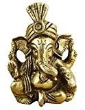Dieu indien ganesha figurine - statue de la main en laiton - 7 x 4 cm x 3 cm