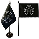 Digni® Drapeau de table Baphomet Église de Satan, mini drapeau - 10 x 15 cm