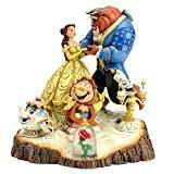 Disney Traditions 4031487 Figurine la Belle et la Bête Bois Sculpté Résine 19 cm