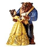Disney Traditions 4049619 Figurine Belle et la Bête Dansant/25e Anniversary Figurine Multicolore 23 cm