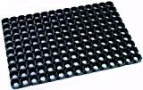 DOMINO Paillasson en caoutchouc extrêmement robust pour usage extérieur, 50 x 80 cm. Couleur noir.