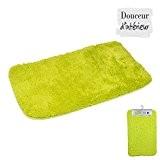 Douceur d'Interieur 6GMB272VC Vitamine Tapis Chinchilla Uni Polyester Vert Anis 80 x 50 x 1 cm