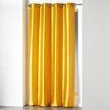 Douceur d'Intérieur Rideau à œillets Polyester Moutarde 140 x 240 cm