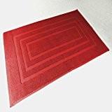 Douceur d'Intérieur Vitamine Tapis de Bain 1000 g Coton Uni Rouge 50 x 85 cm
