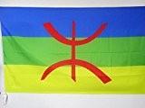 DRAPEAU KABYLIE 90x60cm - DRAPEAU KABYLE - ALGÉRIE BERBÈRE 60 x 90 cm Fourreau pour hampe - AZ FLAG