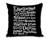 DSL&HXY 18 x 18 Inches Decorative Cotton Linen Square Throw Pillow Case Cushion Cover Harry Potter Magic Spell List Design