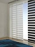 Easy-shadow de qualité neutex panneau avec store déroulant doublé - 2 couleurs au choix fensterjalousie duo schiebegardine rideaux pour rail ...