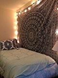 Éléphant indien Mandala Tapisserie, hippie tapisseries, Tapisserie murale, Indian Tapisserie Noir et blanc, décoration de Dortoir de Bohême Mandala tapisseries ...