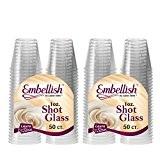 Embellir cristal en plastique rigide transparent verre à Shot jetables Transparent 30ml 30ml., Plastique, 100 Pcs