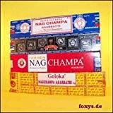 Encens 4 x Nag Champa - NagChampa, Goloka, Superhit, Gold - Inde Original