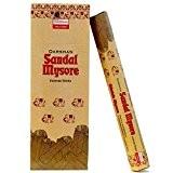 Encens Sandal Mysore Parfum Bois de Santal 6 boîtes de 20 Bâtonnets d'encens indien