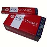 Encens Vijayshree Golden Nag Champa 12 boîtes Parfum Nag Champa Bâtonnets d'encens indiens