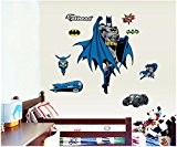 ENFANTS STICKERS MURAUX GRAND WS Batman AUTOCOLLANTS FILLES CHAMBRE DE MUR CHAMBRE DECOR Décoration Sticker Adhesif Mural Géant Répositionnable