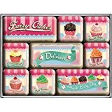 "Ensemble de 9 magnets cupcakes "" Fairy Cakes - Delicious Set """