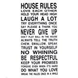 [Envoi GRATUIT 7~12 jours] maison regles Art mots graphiques mur PVC autocollant papier peint 8010 // House Rules Art Words ...