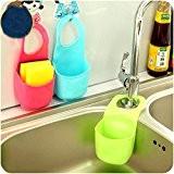 EQLEF® 2 PCS Boîte de rangement éponge rack panier Débarbouillette Savons de toilette Shelf Organizer Cuisine Salle de bain Gadgets ...